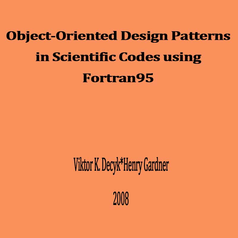 Object-Oriented Design Patterns in Scientific Codes using