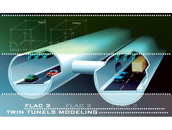 پروژه مدلسازی عددی و بررسی اندرکنش تونلهای دوقلو بر یکدیگر به کمک نرم افزار FLAC3D به همراه فیلم آموزشی نرم افزار FLAC3D
