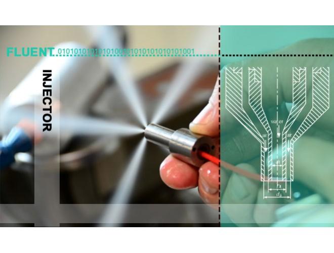 پروژه بررسی اثر پارامترهای پاشش برکاهش قطر قطرات در انژکتورهای دوپایه دوفاز با استفاده از نرم افزار FLUENT  و به همراه فیلم آموزشی نرم افزار FLUENT