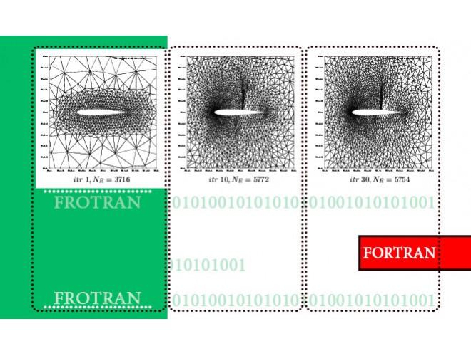 پروژه تطبیق شبکه دو بعدی با استفاده از چشمه های خطی و کمانی با استفاده از نرم افزار فرترن و به همراه فیلم آموزشی نرم افزار فرترن