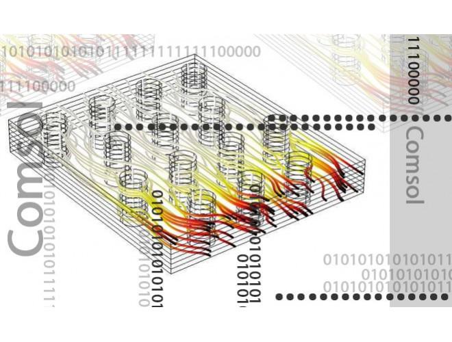 پروژه مدلسازی و شبیه سازی مبدل حرارتی پره - لوله (fin tube heat exchanger) با استفاده از نرم افزار COMSOL به همراه فیلم آموزشی نرم افزار COMSOL