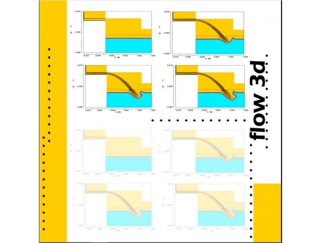 پروژه تحلیل سازه های هیدرولیکی به کمک نرم افزار FLOW-3D