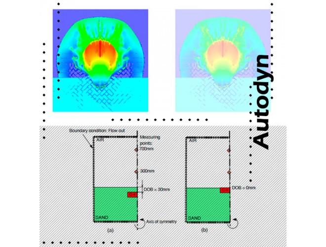 پروژه شبیه سازی انفجار زیر خاک به کمک نرم افزار  AUTODYN