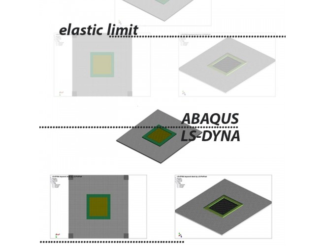 پروژه شبيه سازي انفجار و بررسي اثرات ناشي از شوك موج انفجار روي اجزا سازه و مطالعه تنش هاي ايجاد شده در اجزا در اثر انفجار (محیط واسط هوا)  به کمک نرم افزار ABAQUS و LS DYNA به همراه فیلم آموزشی نرم افزار ABAQUS و LS DYNA