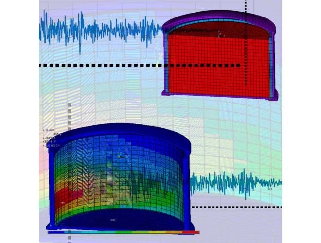 پروژه  تحلیل لرزه ای مخازن گاز مایع  به کمک نرم افزار ANSYS به همراه فیلم آموزشی نرم افزار ANSYS