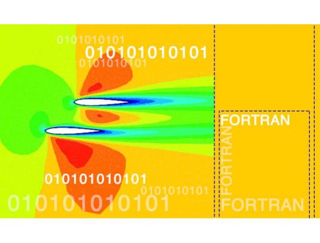 پروژه تحلیل جریان دوبعدی غیر لزج با گسسته سازی بخش جابجایی به روش CUSP2011 با استفاده از نرم افزار فرترن و به همراه فیلم آموزشی نرم افزار فرترن