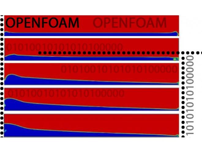 پروژه شبیه سازی و شناسایی رژیم های جریان دو فازی گاز-مایع غیر همسو در لوله های عمودی و افقی بزرگ مقیاس با استفاده از نرم افزار OpenFOAM و به همراه فیلم آموزشی نرم افزار OpenFOAM