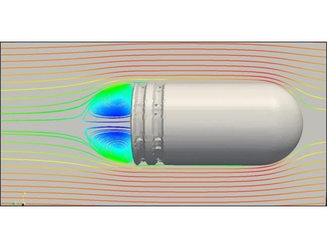 پروژه مدل سازی جریان هوای گذرنده بر روی گلوله با استفاده از نرم افزار OpenFOAM