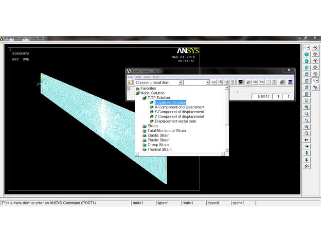 پروژه شبیهسازی ارتعاشات و عیبیابی بال هواگردها با استفاده از آنالیز مودال با استفاه از نرم افزار ANSYS