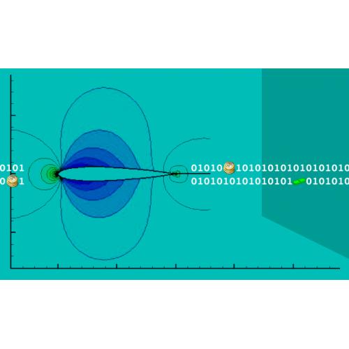 شبیهسازی جریان تراکمپذیر دوبعدی به روش فشرده(شبکه نوع _O)