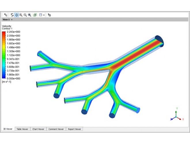 پروژه مدل سازی جریان هوا و نشست موضعی ذرات دارویی در راههای هوایی مرکزی دستگاه تنفسی انسان با استفاده از نرم افزار FLUENT