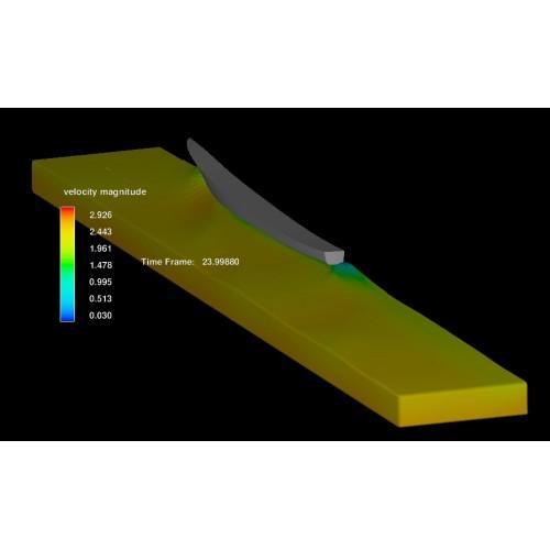 تحلیل هیدرودینامیک دوفازی (سطح آزاد) برای شناورهای سطحی و مقایسه تطبیقی دقت مدل Flow3D