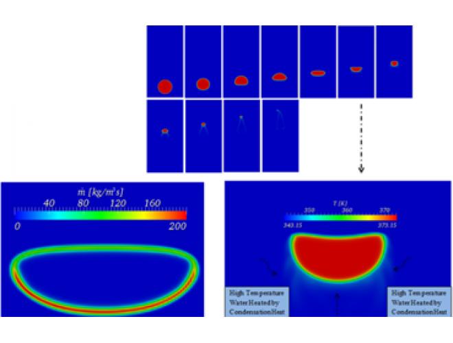 پروژه پیاده سازی معادله انرژی و مدل انتقال جرم در حلگر اینترفوم  جهت شبیه سازی جریان دوفازی همراه با تغییر فاز (MassFoam) با استفاده از نرم افزار OpenFOAM