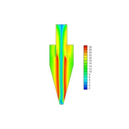 بررسی عملکرد جداکننده های سیکلونی با استفاده از نرم افزار فلوئنت