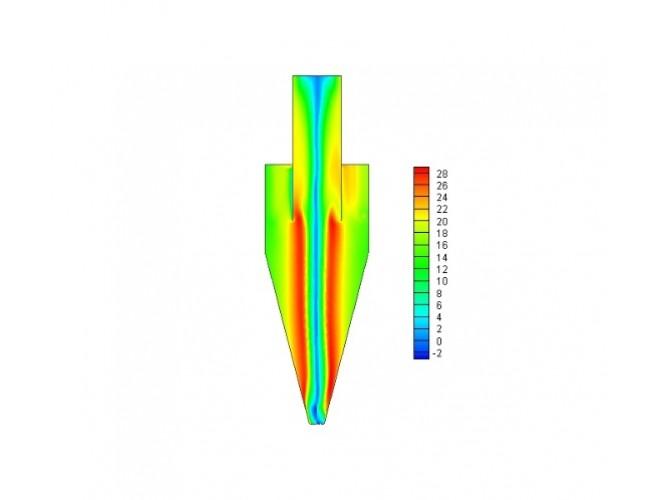 پروژه بررسی عملکرد جداکننده های سیکلونی با استفاده از نرم افزار FLUENT