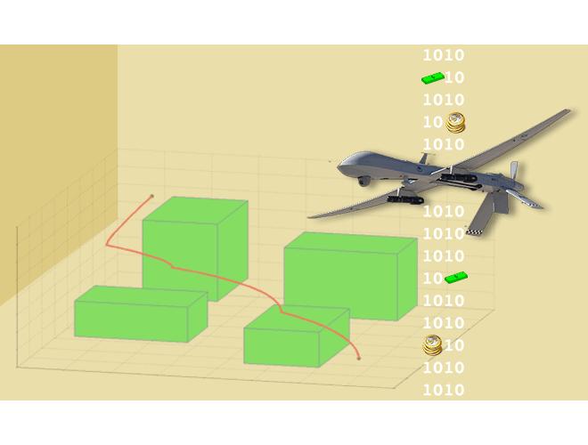 پروژه طراحی مسیر و کنترل برای یک ربات پرندهی بدون سرنشین در محیط شناخته شده با استفاده از نرم افزار MATLAB
