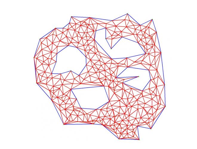 پروژه پیاده سازی روش تولید شبکه دو بعدی به روش دلانی جبهه پیش رونده با استفاده از نرم افزار VISUAL STUDIO