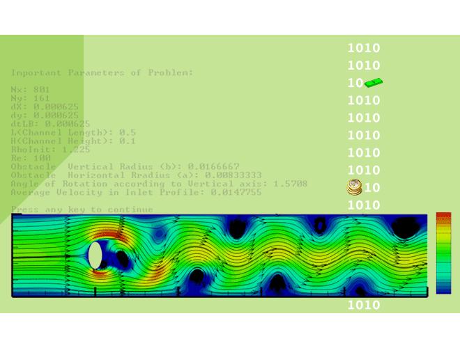 پروژه نرم افزار بررسی و حل عددی انتقال و رسوب نانو ذرات در عبور از موانع بیضوی با روش شبکه بولتزمن با استفاده از نرم افزار ++C