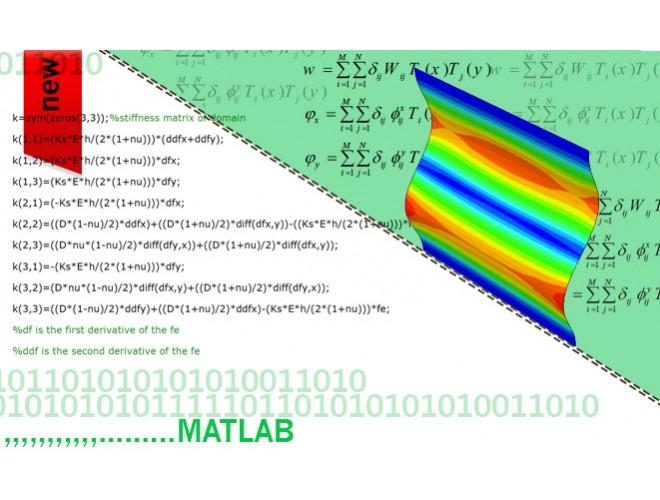 پروژه بررسی کمانش و پس کمانش ورق مربعی ساده و سوراخ دار با استفاده از نرم افزار MATLAB و به همراه فیلم آموزشی نرم افزار MATLAB