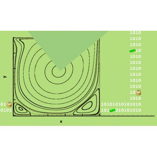 پروژه شبیه سازی جریان سیال تراکم ناپذیر با روش بولتزمن شبکه ای مرتبه بالا D2Q37 با استفاده از نرم افزار C به همراه آموزش نرم افزار C