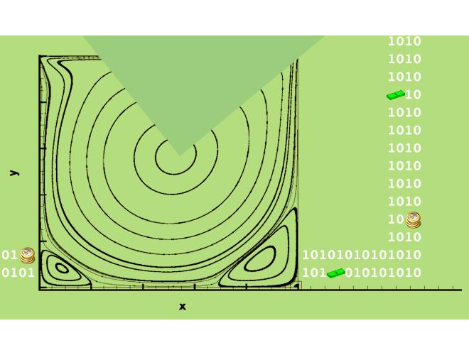 پروژه شبیه سازی جریان سیال تراکم ناپذیر با روش بولتزمن شبکه ای مرتبه بالا D2Q37 با استفاده از نرم افزار ++C