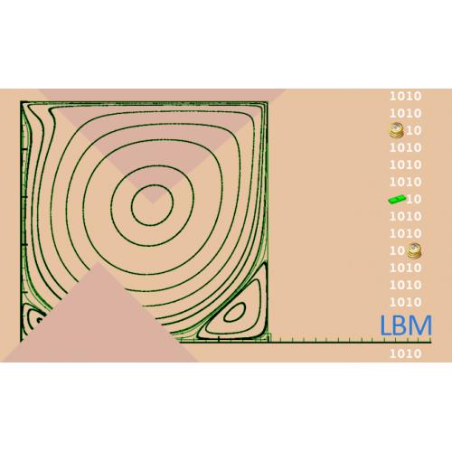 شبیه سازی جریان سیال توسط روش LBM با مدل D2Q9