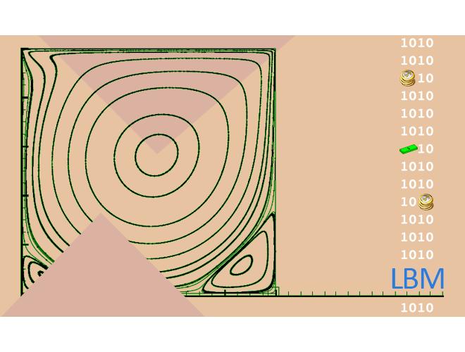 پروژه شبیه سازی جریان سیال توسط روش LBM با مدل D2Q9 با استفاده از نرم افزار ++C