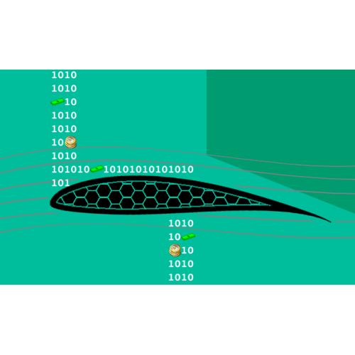 شبکه بندی شش وجهی برای یک ایرفویل به روش  Cgrid