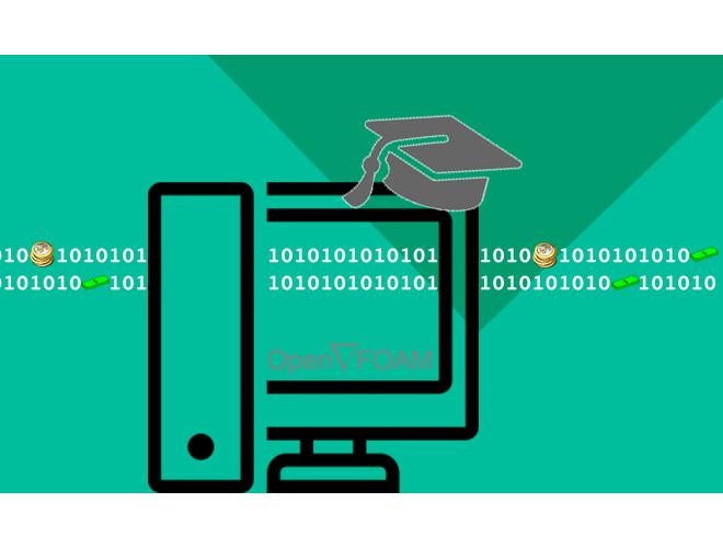 پروژه آموزش تکنیک هایی از  OpenFOAM شامل: حل موازی، ثبت مقادیر با زمان، ثبت مقادیر روی خط یا صفحه