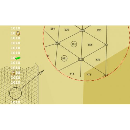 یکسان سازی جهت تمام مثلث های شبکه دوبعدی و سطحی