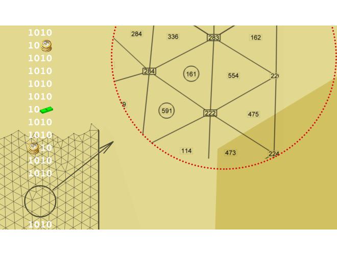 پروژه یکسان سازی جهت تمام مثلث های شبکه دوبعدی و سطحی با استفاده از نرم افزار فرترن