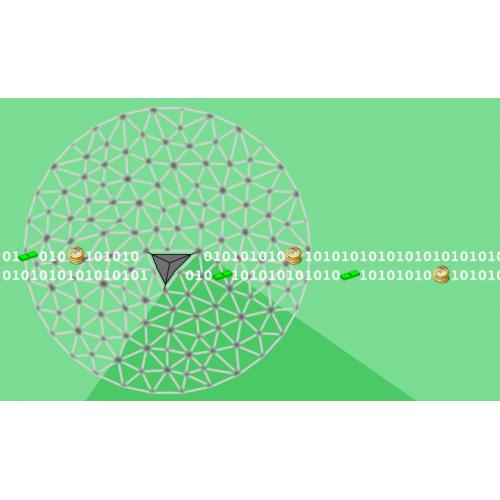 ریز کردن شبکه مثلثی با استفاده از روش لاسن و نقطه گذاری در مرکز مثلث