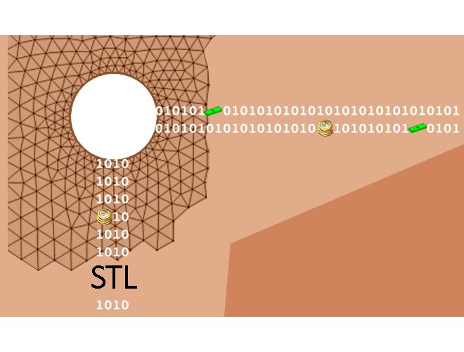 پروژه خواندن و استخراج اطلاعات شبکه موجود در فایل STL با استفاده از نرم افزار فرترن