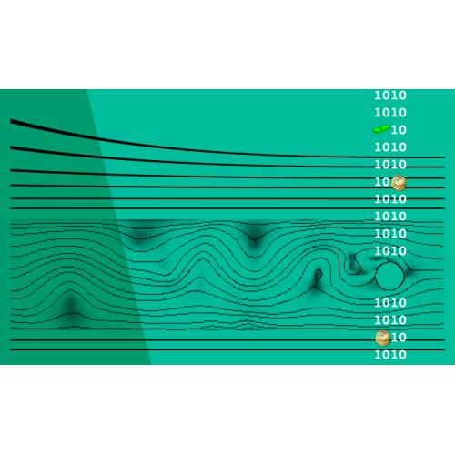 آموزش نرم افزار کامسول  شبیه سازی جریان هوا حول استوانه دوّار