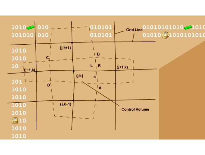 پروژه روش عددی رو (Roe) در مختصات عمومی با دقت مرتبه سوم با استفاده از نرم افزار فرترن