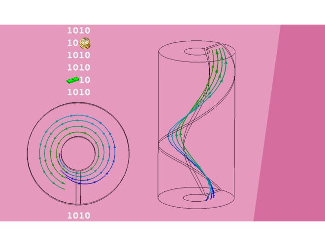 پروژه بررسی عددی تاثیر میدان مغناطیسی بر جوشش جریان چرخشی نانوسیال مغناطیسی در مجاری حلقوی با استفاده از نرم افزار CFX