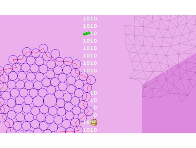 پروژه تولید شبکه محاسباتی مثلثی با استفاده از بستههای دایرهای با استفاده از نرم افزار فرترن به همراه آموزش نرم افزار فرترن