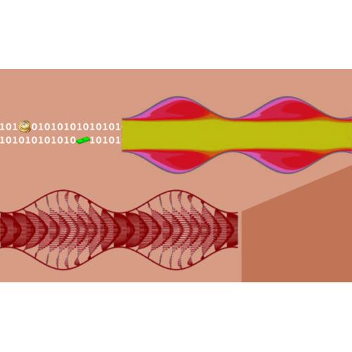 حل جریان و انتقال حرارت به صورت ناپایا درون کانال موج دار با شرط مرزی پریودیک