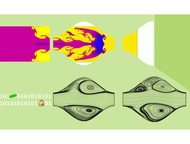 پروژه حل جریان و انتقال حرارت پایا درون کانال موج دار با شرط مرزی پریودیک با استفاده از نرم افزار فرترن
