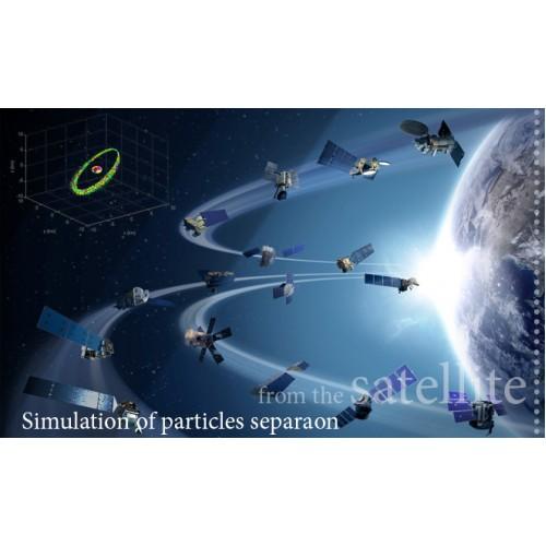شبيهسازی پخش ذرات جداشده از ماهواره و اجرام سماوی در مدارهای فضایی با در نظر گرفتن اثر اغتشاشی عدم کرويت زمين