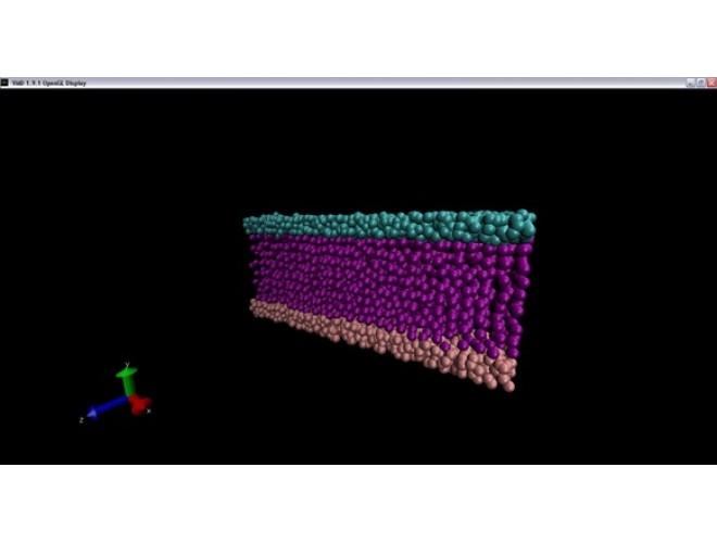 پروژه  نرم افزار دینامیک مولکولی با استفاده از نرم افزار فرترن