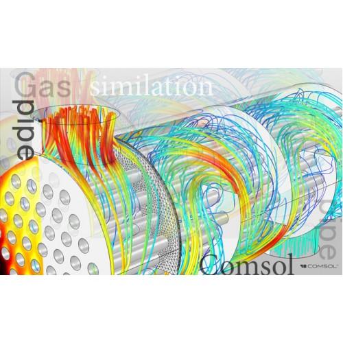 مدل سازی و شبیه سازی تجزیه حرارتی هیدرات اطراف لوله های استخراج گاز اعماق اقیانوس ها به روش اورتوگونال کولوکیشن و اعتبار سنجی نتایج حاصل با نرم افزار کامسول