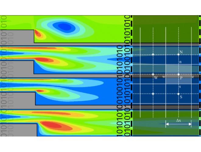 پروژه شبیه سازی عددی جریان توربولانسی گذرنده از روی هندسه پله (BFS) و ارزیابی سه مدل توربولانسی k-epsilon، LES و DES با استفاده از نرم افزار فرترن و به همراه فیلم آموزشی نرم افزار فرترن