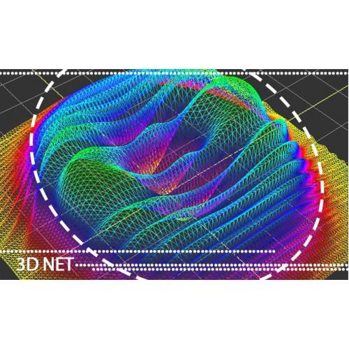 ریز کردن شبکه سه بعدی با استفاده از روش لاسن و نقطه گذاری در مرکز المان