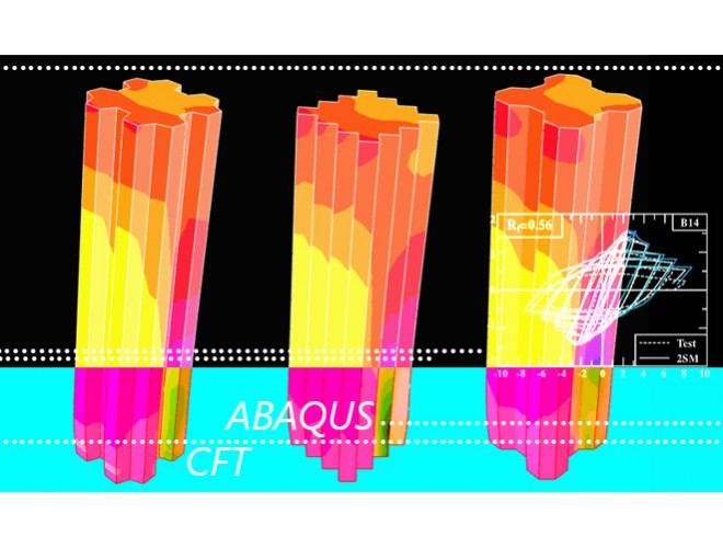 پروژه بررسی شکل پذیری و رفتار لرزه ای ستونهای CFT  با مقطع موجدار و کاربرد آن بعنوان پایه پل ها به کمک نرم افزار ABAQUS به همراه فیلم آموزشی نرم افزار ABAQUS