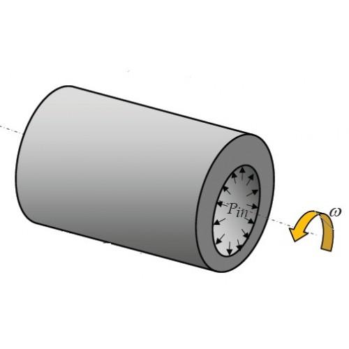 تحلیل خزش در استوانههای دوار چندلایه کامپوزیتی   تحت فشار داخلی با چیدمان متقاطع