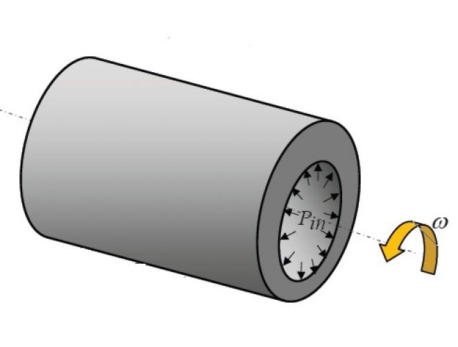 پروژه تحلیل خزش در استوانههای دوار چندلایه کامپوزیتی   تحت فشار داخلی با چیدمان متقاطع  با استفاده از نرم افزار MATLAB