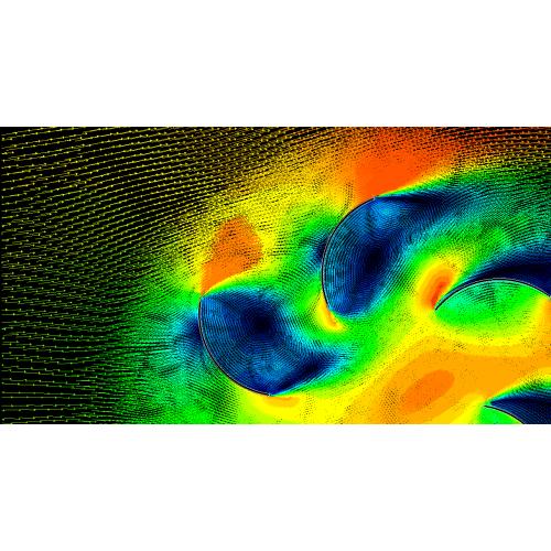 شبيه سازی عددی  کارايی استفاده از يکسو کننده بر توربين باد عمود محور