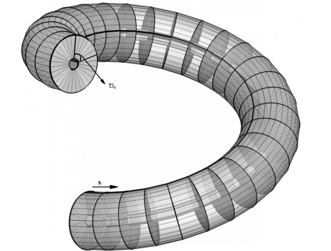 پروژه توسعه کد عددی برای تحلیل سه بعدی میدان جریان تراکم ناپذیر درون لوله های مارپیچ با استفاده از نرم افزار فرترن