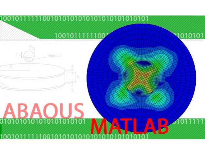 مدلسازی تحلیلی و شبیه سازی عددی آسیب های ناشی از ضربه سرعت پایین در ساندویچ پنل های کامپوزیتی دایروی با استفاده از نرم افزار ABAQUS و MATLAB و به همراه فیلم آموزشی نرم افزار ABAQUS و MATLAB